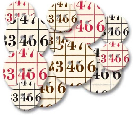 Chipboard Buttons - Bingo