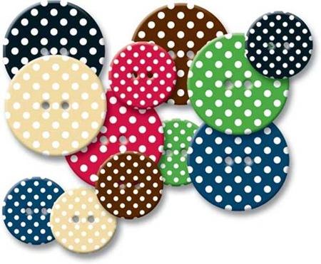 Chipboard Buttons - Polka Dot