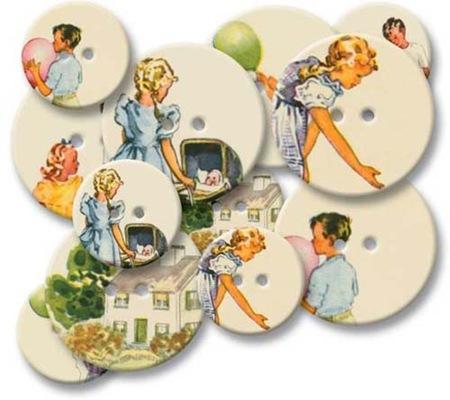 Chipboard Buttons - Reader
