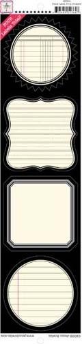 Label Strip Stickers - Black