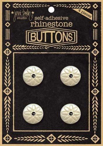 Rhinestone Button - Black