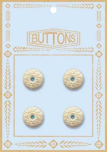 Rhinestone Button - Blue