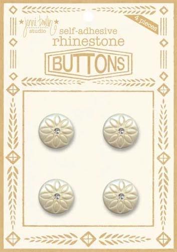 Rhinestone Button - Clear