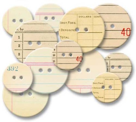 Chipboard Buttons - Office