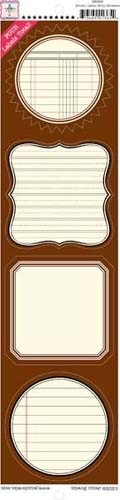 Label Strip Stickers - Brown