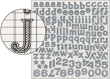 Large Alpha Stickers - Tiny Dot