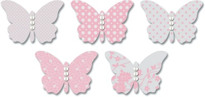 EB543 Red Vellum Butterflies