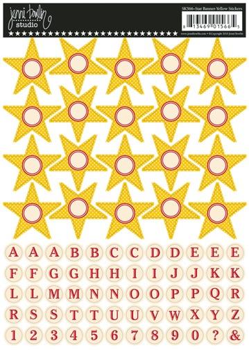banner stickers stars