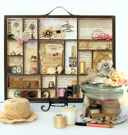 Printers Tray & Memory Jar - Kathie 1