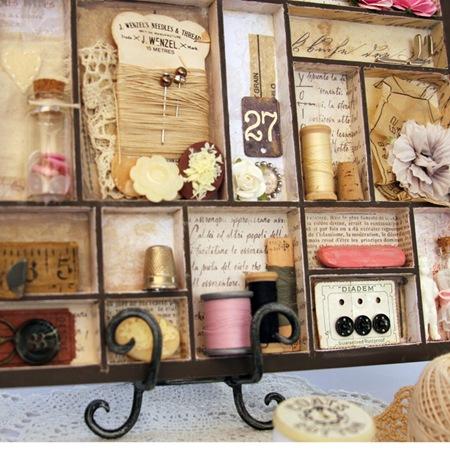 Printers Tray & Memory Jar - Kathie 2