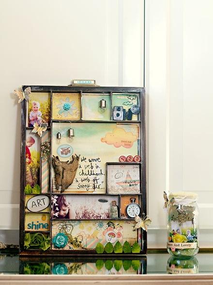 Printers Tray & Memory Jar - Danielle