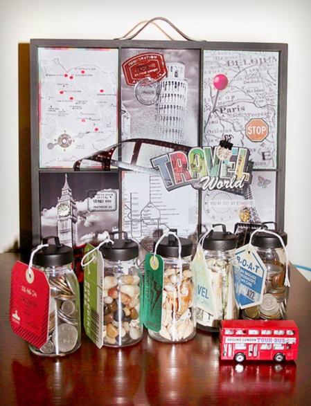 Travel Artist Tray and Memory Jars - caz