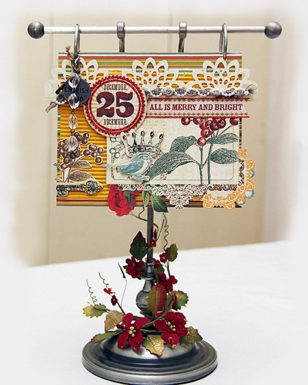 Christmas Table Annual Photo Holder - Iris Uy