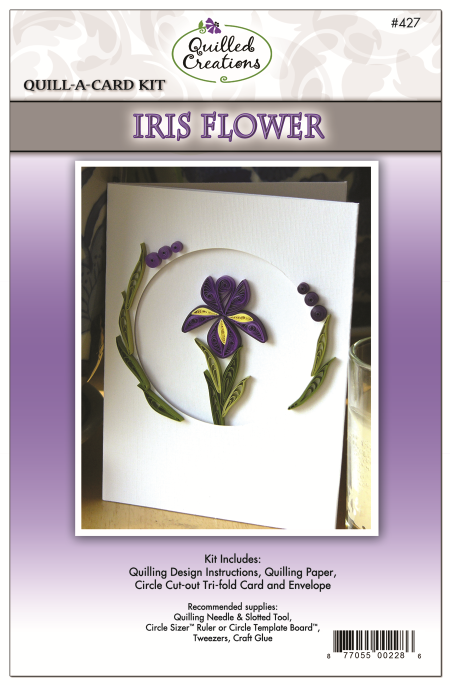 427-Quill-A-Card-Iris-Flower-Kit