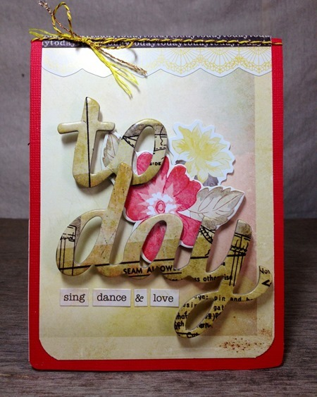 Sizzix Pop up card 1 - JC