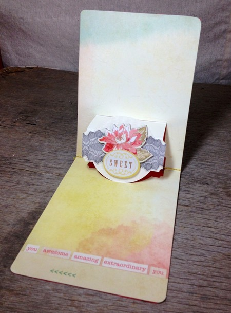 Sizzix Pop up card 1 inside - JC