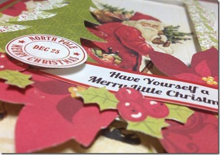 Special Christmas card close up