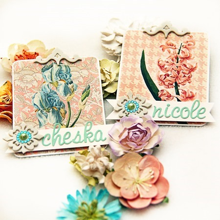 WEDDING Iris Place Cards d1