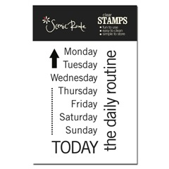 SRA336 A Days of the Week CLear Stamp