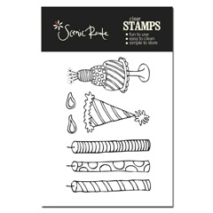 SRA338 A Birthday Clear Stamp