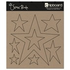 SRC685 Plain Chipboard Stars (2)