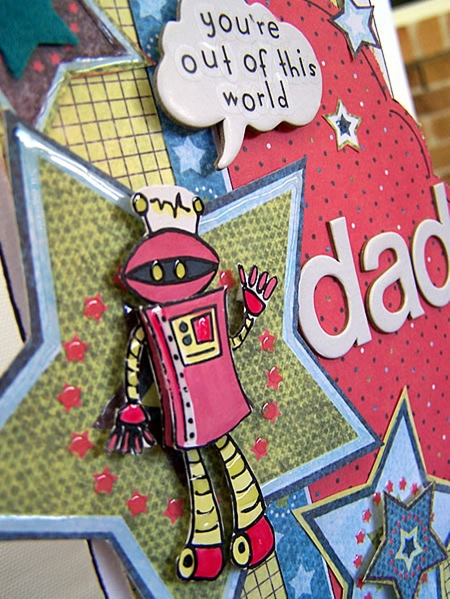 card out of this world embellishment